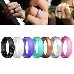 7 Pack Women Silicone Wedding Rubber Band Rings